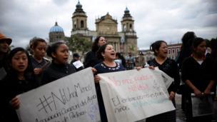 Protesta de Ni una menos en Guatemala