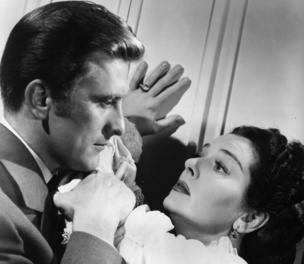 Kirk Douglas with Rosalind Russell in Mourning Becomes Electra