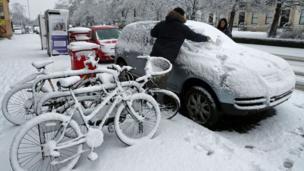 Inggris,salju, cuaca