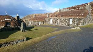Black houses on the Isle of Lewis