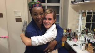 Noma Dumezweni and Emma Watson