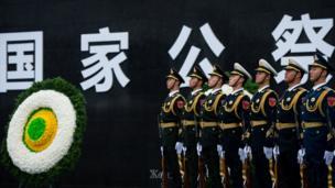 南京大屠殺死難者國家公祭儀式現場(新華社圖片13/12/2016)