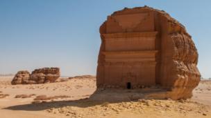 Ruinas de la antigua ciudad de Mada'in Saleh,