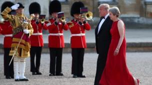 Trump, Amerika Serikat, Inggris, May