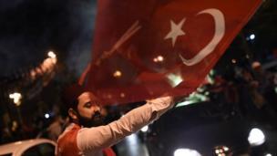 İstanbul'daki kutlamalardan bir kare