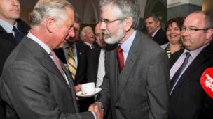 Prince Charles meeting Gerry Adams