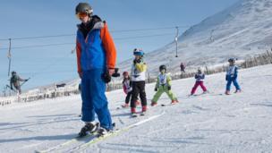 Ski school at Nevis Range