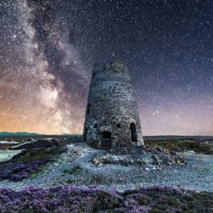 The night sky above Mynydd Parys on Anglesey