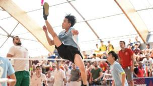 Đội Trung Quốc chỉ thắng khít khao đội tuyển Hungaria trong trận tranh huy chương đồng