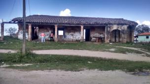 Una casa en ruinas en Paraguay