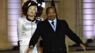 President Biya and im wife Chantal Biya