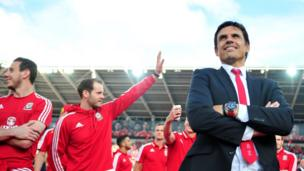 Wales's manager Chris Coleman