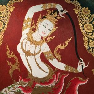 Tranh tại Trung tâm Văn hóa Nghệ thuật Bangkok