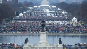 Spectators gather for inauguration