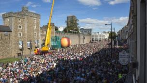 An estimated 35,000 people packed into the city for Saturday afternoon's events