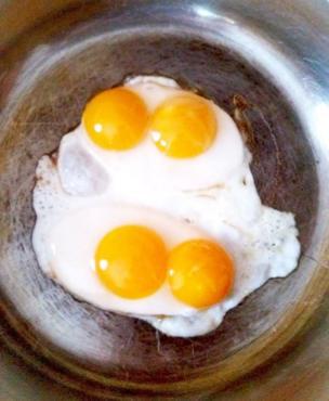 بيض بط مقلي