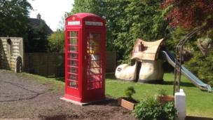 Phone box kitted out with a defibrillator for the village of Torthorwald