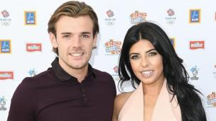 Nathan Massey and Cara de la Hoyde at the Queen Elizabeth Olympic Park