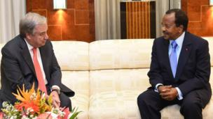 UN Head and Cameroon President