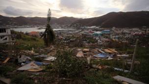 Devastation on British Virgin Islands