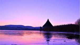 Wonderful Welsh winter sunrise across the majestic Llangorse Lake in the Brecon Beacons taken by Melanie Lewis.