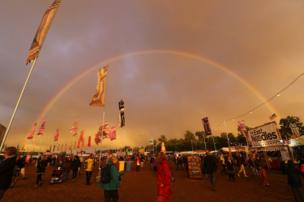 A rainbow over the festival