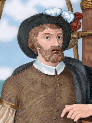 Ilustração colorida de Juan Sebastián Elcano