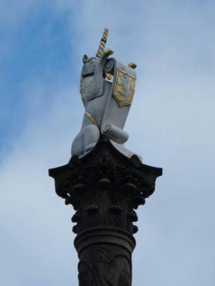 Unicorn statue