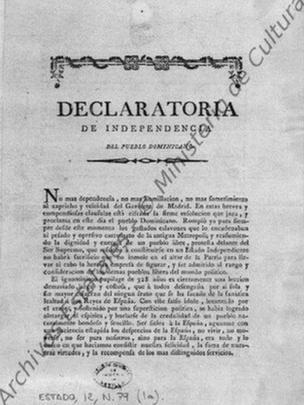 Declaratoria de Independencia del Pueblo Dominicano.