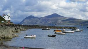 Picture postcard view: Emma Reardon's picture of Yr Eifl, on the Llyn Peninsula