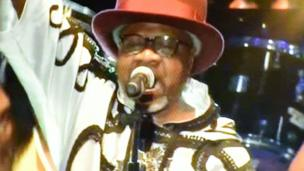 Papa Wemba during his final performance in Ivory Coast