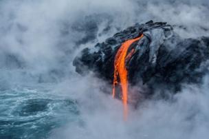 تدفق حمم بركانية