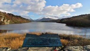 Llyn Padarn in Llanberis looking towards Snowdon, by Anna Hamblett