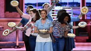Jessie Mueller and the cast of 'Waitress' perform at the Tony Awards