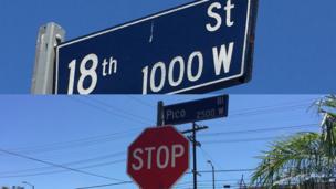 Composición calles 18 y Pico Boulevard, Los Ángeles