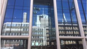 BBC building reflection