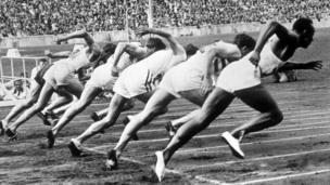 Prueba de corredores en 1936