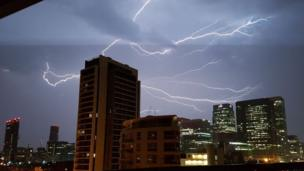 Rich H's image of storm in Canary Wharf