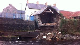 Damaged building in Kesh