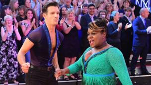 Danny Mac and Tameka Empson on the red carpet