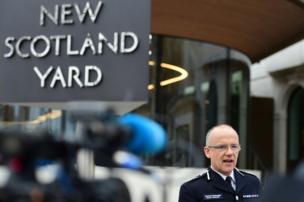 Mark Rowley, Acting Deputy Commissioner of the Metropolitan Police, speaks to media Friday morning