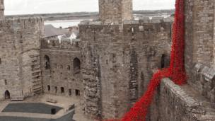 The Weeping Window at Caernarfon Castle, taken by Mel Garside