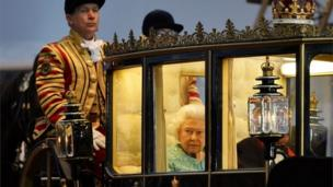 The Queen in her carriage