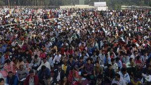 Catholics attending Mass in Dhaka