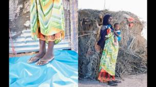 Roda, 18, and her daughter 13 months, from near Gargara, Awdal region Somaliland.