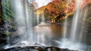 Sgwd yr Eira waterfall, Brecon Beacons.
