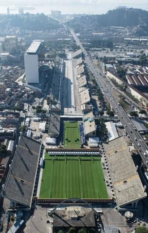 Aerial view of the Sambodromo, place of the famous Rio de Janeiro Carnival, which will host archery events and the Marathon