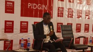 "Victor follow read im winning essay on weda ""Africa youth dey ready for political leadership"""
