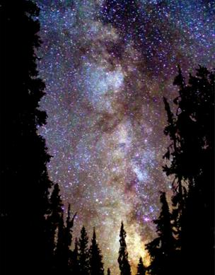 The starry night sky in Oregon