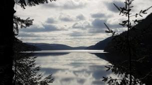 Cycling into the beyond: Nick Lawson took this snap of Lake Vyrnwy, in Powys, while on a bike ride.